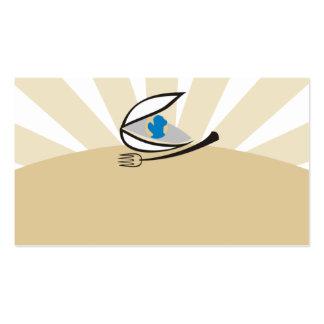 Busin da culinária do mundo da forquilha do cartão de visita