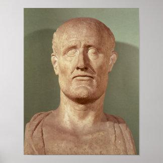 Busto de Alcibiades Poster
