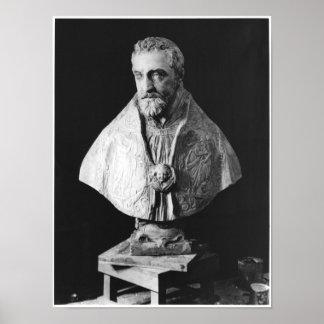Busto do retrato do d Escoubleau de Francois Posters