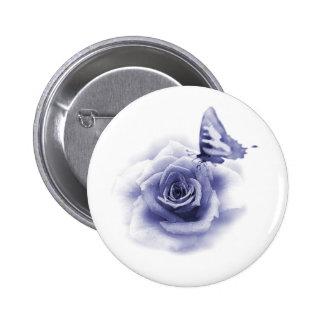 Butterflt e padrão do rosa, botão redondo da bóton redondo 5.08cm