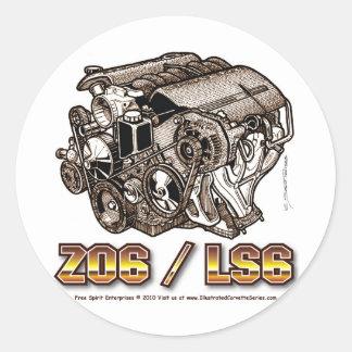 C6 Z06 LS6 ADESIVOS EM FORMATO REDONDOS
