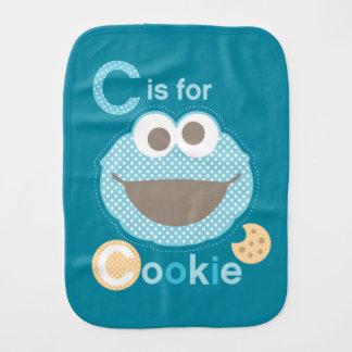 C é para o bebê do biscoito paninhos de boca