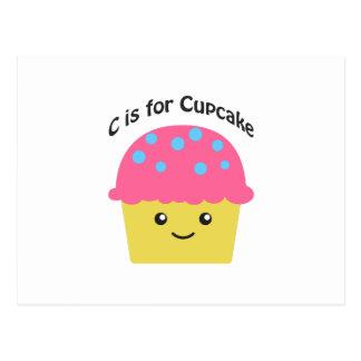 C é para o cupcake cartão postal
