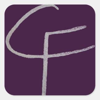 C F iniciais Adesivo