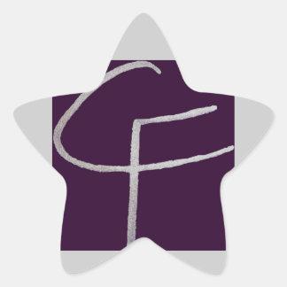 C F iniciais Adesivo Em Forma De Estrela