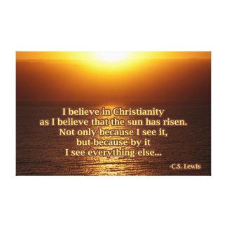 C.S. Citações da cristandade de Lewis Impressão Em Tela