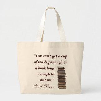 C.S. Saco das citações de Lewis Sacola Tote Jumbo