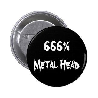 cabeça 666%Metal Bóton Redondo 5.08cm