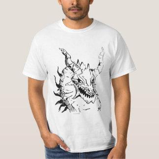 Cabeça antiga do dragão t-shirts