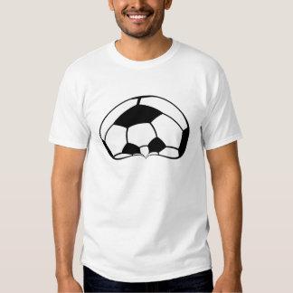 Cabeça da bola de futebol do futebol com a camisa  camisetas