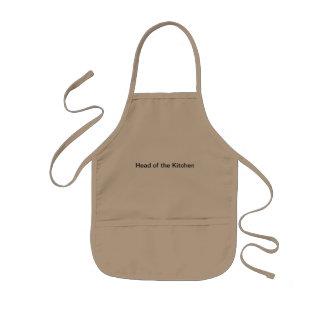 Cabeça da cozinha avental infantil