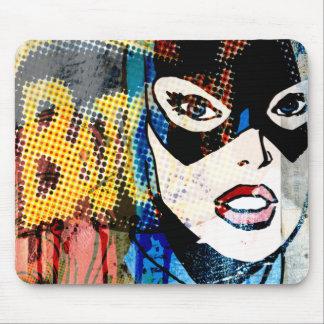 Cabeça de Batgirl Mouse Pad