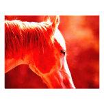 Cabeça de cavalo do pop art convite
