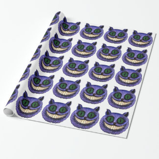CABEÇA do CAT de CHESHIRE (design 1) Papel De Presente