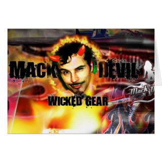 Cabeça do diabo de Mack Cartão Comemorativo