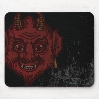 Cabeça do diabo (vermelho desvanecido) mouse pad