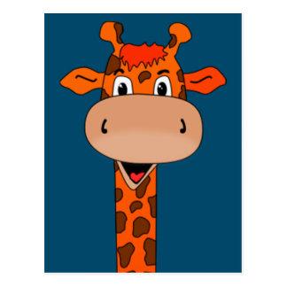 cabeça e pescoço do girafa cartão postal