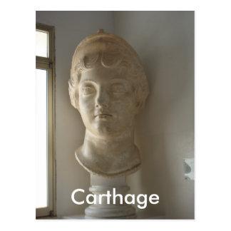 Cabeça fêmea no museu do cartão de Carthage