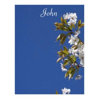Cabeçalho da flor de John Modelo De Papel De Carta