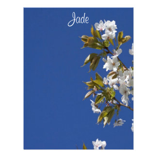 Cabeçalho da flor do jade papel de carta personalizados