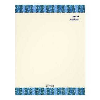 cabeçalho das listras azuis papel timbrado