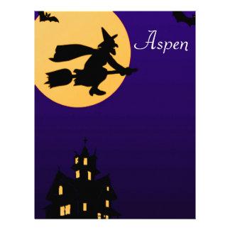 Cabeçalho de Aspen o Dia das Bruxas Modelo De Papel De Carta