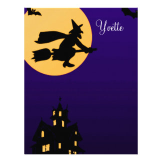 Cabeçalho de Yvette o Dia das Bruxas Modelo De Papel De Carta