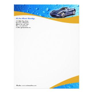 Cabeçalho do lavagem de carros/do detalhe papel timbrado