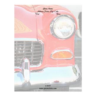 Cabeçalho vermelho clássico do carro papel timbrado