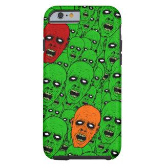 Cabeças do zombi do vivo capa tough para iPhone 6