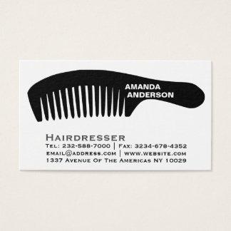 cabeleireiro cartão de visitas