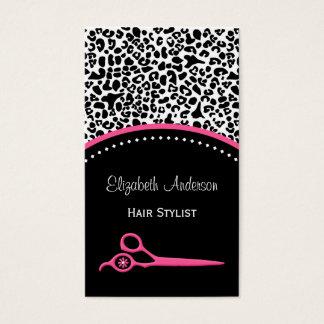Cabeleireiro chique e salão de beleza do impressão cartão de visitas