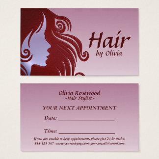 Cabeleireiro do armário do cabelo do cabeleireiro cartão de visitas