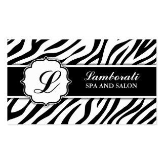 Cabeleireiro do cabeleireiro do impressão da zebra modelo de cartões de visita