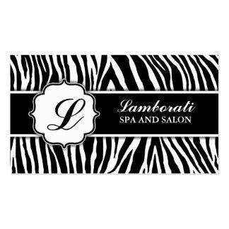 Cabeleireiro do cabeleireiro do impressão da zebra cartao de visita