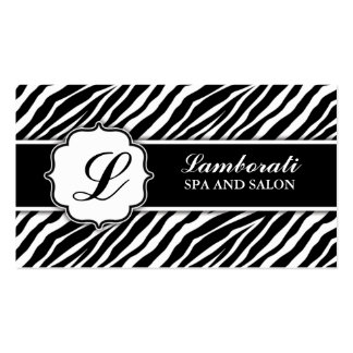 Cabeleireiro do cabeleireiro do impressão da zebra cartoes de visita