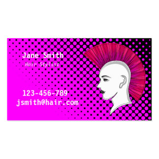 Cabeleireiro do cabeleireiro do punk customisable cartão de visita
