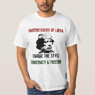 Cabeleireiro do estilo da mudança de Líbia à Camiseta