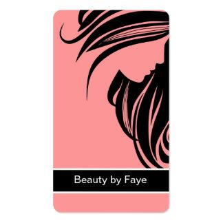 Cabeleireiro dos cartões de visitas da beleza