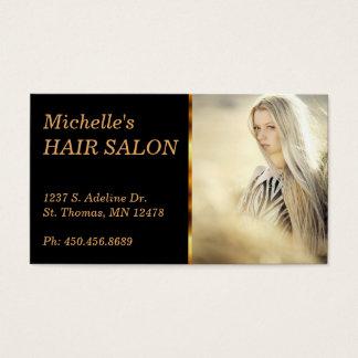 Cabeleireiro elegante cartão de visitas