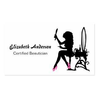 Cabeleireiro feminino cor-de-rosa e preto do Beaut