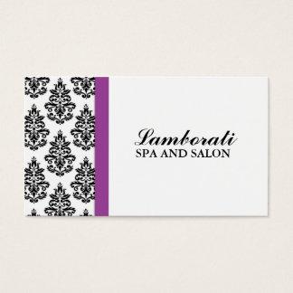 Cabeleireiro floral do salão de beleza do cartão de visitas
