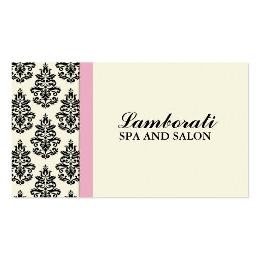 Cabeleireiro floral do salão de beleza do estilist cartões de visitas
