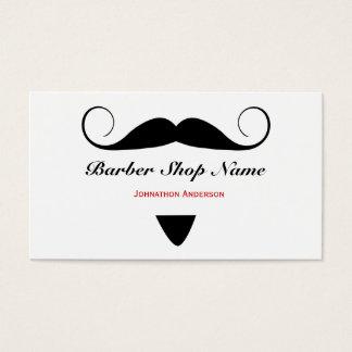 Cabeleireiro na moda da barbearia do bigode para cartão de visitas