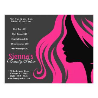Cabeleireiro (profundamente - rosa) panfletos coloridos