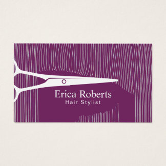 Cabeleireiro roxo elegante do cabeleireiro cartão de visitas