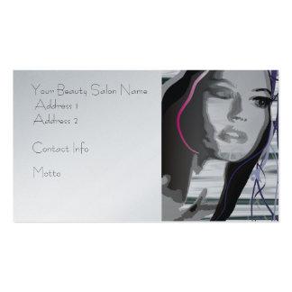 Cabelo ou salão de beleza, cartão de visita do art