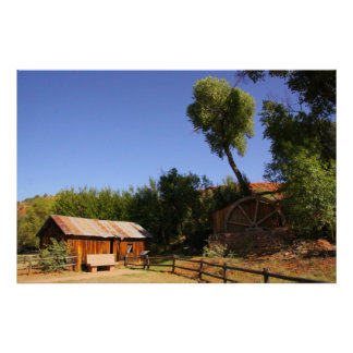 Cabine histórica, arizona de Sedona Pôster