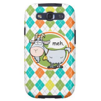 Cabra engraçada; Teste padrão colorido de Argyle Capinhas Samsung Galaxy S3