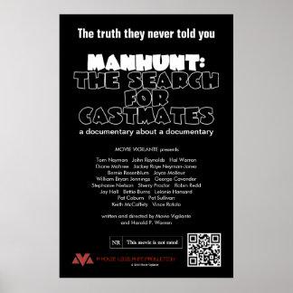Caça ao homem: A busca para Castmates Pôster
